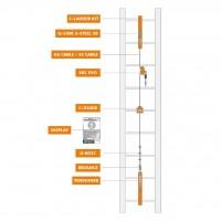 Climbing Technology  varovalna linija, Skc Evo Line - centralna montaža – 10 m