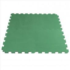 Fitnes gumirana podloga 50 x 50 x 1,5cm, zelena