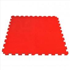 Fitnes gumirana podloga 50 x 50 x 1,5cm, rdeča