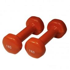 YATE uteži PVC 1,0 kg / par