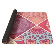 Joga podloga iz naravnega kavčuka - roza 0,1 cm