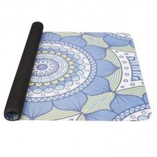 Joga podloga iz naravnega kavčuka - modra / zelena 0,1 cm