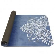 Joga podloga iz naravnega kavčuka  modra 0,4cm