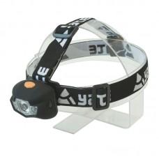 Naglavna svetilka PANTER 3 W CREE + 2 LED - črna
