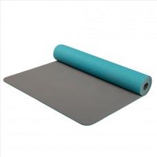Joga dvoplastna podloga - modro / siva