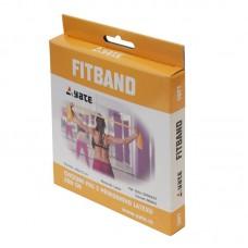 Vadbeni elastični  trak FIT BAND 200 x12 cm mehak / rumena