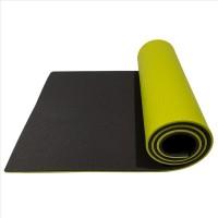 FITNESS SUPER ELASTIC dvoplastna podloga 190 cm črna / svetlo zelena