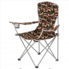 Zložljiv stol z naslonom za kampiranje MORAY - maskirna