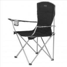 Zložljiv stol z naslonom za kampiranje MORAY - črna