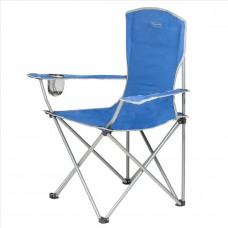 Zložljiv stol z naslonom za kampiranje MORAY - modra